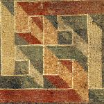 Detail of the geometric border, Tellaro mosaic
