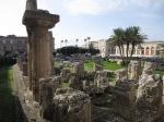 Detail of columns, Temple of Apollo, 6th century BCE, Ortigya, Syracuse