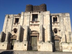 Exterior, San Nicolo l'Arena church, Catania
