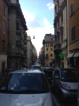 Traffic downtown near the Palazzo Barberini