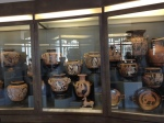 Just a sample of the vast numbers of intact Greek vases in the museum