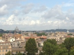 Panorama of the city from east side of Tiber River