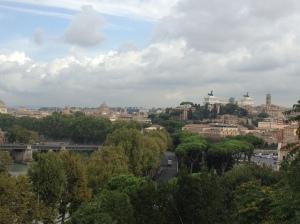 Panorama looking towards Victor Emmanueul monument