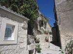 Dead end into hillside dwellings