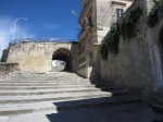Steps leading to top of Modica Alta