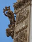 Corner sculptures and reliefs, Palazzo Beneventano, Scicli