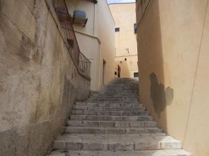 Steps to Piazza del Duomo, Ragusa
