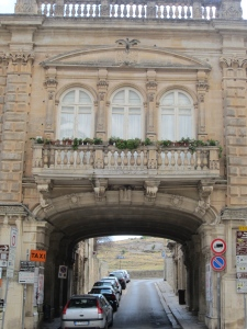 One of the streets exiting the piazza del Duomo, Ragusa Ibla