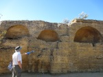 Walls with added catacomb niches, Byzantine