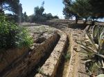 Greek road turned into water channel