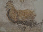 Detail, Rooster mosaic, Archaeological Museum, Agrigento