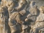 Detail, sarcophagus for child, marble, Roman era