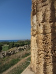 Looking to the sea from Temple of Hera, Selinunte