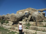 Megalithic columns, Temple C, Acropolis Selinunte