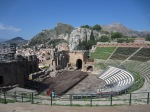Greek theater in Taormina, 3rd century BCE