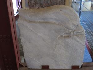 Dolphin armrest, marble