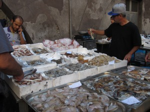 Abundance of fish, Catania fish market