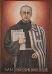 Saint Maximilian Kolbe, painting, St. Francis of Assisi church, Catania