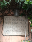 Plaque identifying La Fornarina's house
