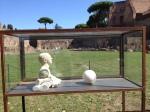 """Nino Longobardi, """"Unitled"""" (one of 4 vitrines), gesso and clay, 2013"""
