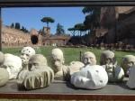 "Nino Longobardi, ""Dodice"" (one of 4 vitrines), gesso and clay, 2013"