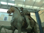 Close up of original Marcus Aurelius equestrian state, Capitoline Museum