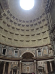 Interior of Pantheon with view of oculus
