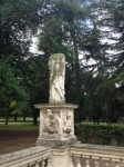 Ancient Roman statue (?) in front of Borghese Gallery