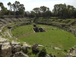 Roman ampitheater, 3rd-4th century CE, Neopolis Archaeological Park