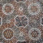 Detail, geometric pattern mosaic, Tellaro