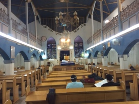 Inside of Ohel Ya'akov synagogue.