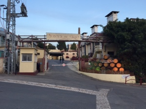 Entrance to the winery production area.