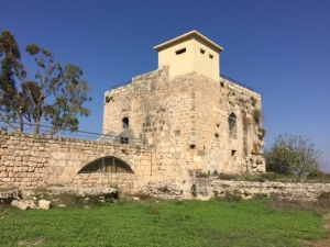 It's amazing no matter where you go in this country you'll find something ancient- in this case a Crusader fortress with that incongruous British guard tower from 1935 on top.