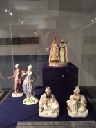 Odd set of porcelain figures: sultans, moors, and   dressed in European clothing from 18th century