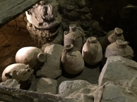 Assorted clay jars