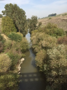 The Jordan River- hard to imagine that this is the main water source for much of this region.