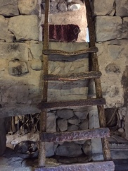 Ladder to the bedroom.