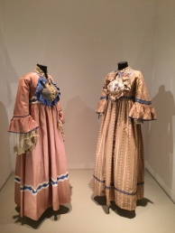It's amusing to think these 19th century dresses from France were considered the height of modesty with such emphasis on the bust.
