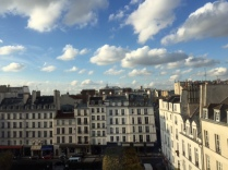 From an upper floor of the museum that is housed in an old palais (palace) a quintessential view of Paris.