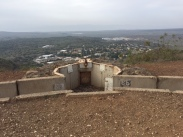 Looking out from the gun emplacements atop Mt. Bental looking down towards Israel and the Meditteranean.