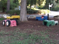 Concrete makes great trucks for the kids.