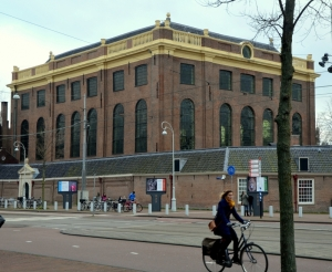 The large and imposing building that is the synagogue is in a very central location in Amsterdam.  Somehow it survived World War II unscathed.  Not sure why.