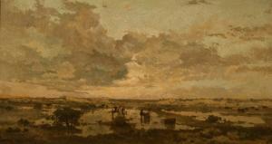 "Heymans (Dutch artist), ""Sunset on the Heath"", 1877"