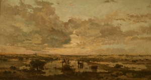 "Heymans (Dutch artist), ""Sunset on the Heath"", 1877"