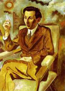 "George Grosz. ""The Author Walter Mehring"". Both Mehring and Grosz were socialists, dadaists, and rebels."