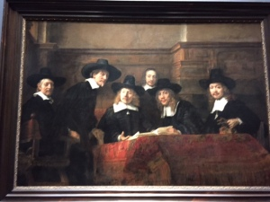 "Rembrandt's ""Sampling Officials"" is an example of portrait painting from the 17th century where each individual paid to have their portrait included. Of course, each one had to hold an important spot in the painting to be satisfied so the challenge was how to make they all look good but make it an interesting painting compositionally. You can see a master at work here."