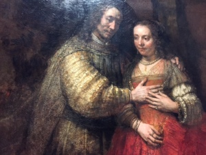 "Rembrandt's ""Jewish Bride"" has undergone extensive restoration as has the museum and is luminous. As we've discussed in several different classes, hands are the hardest thing to draw or paint and check out the hands here. You don't get much better than this."