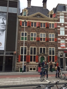Rembrandt's house in the center of Amsterdam. The building shows the extensive costume collection that Rembrandt used on his models and the museum next door specializes in drawings and prints.