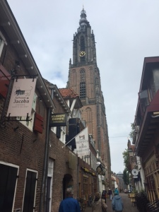 The church in Amersfort is from the Romanesque period and is well known because it is located in the exact center of Holland.