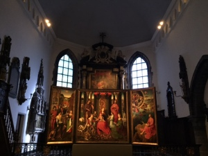 Memling's St John's Altar in the main chapel